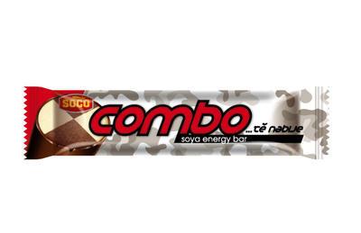COMBO tě nabije, sójová tyčinka v tmavé polevě 65g