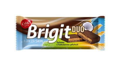 Brigit DUO tyčinka s kokosovou příchutí v tmavé polevě 90g