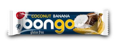 Bongo s banánovou příchutí, kokosová tyčinka v mléčné polevě 40g