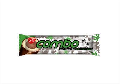 COMBO tě nabije, tyčinka s konopným semínkem  v tmavé polevě 58g
