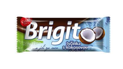 Brigit  tyčinka s kokosovou příchutí v tmavé polevě 90g